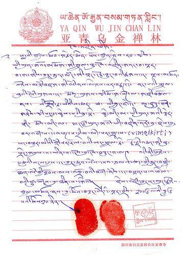 《多杰羌佛第三世》-降養隆多加參遍智法王(亞青寺-阿秋法王)認證三世多杰羌佛(106-107頁)
