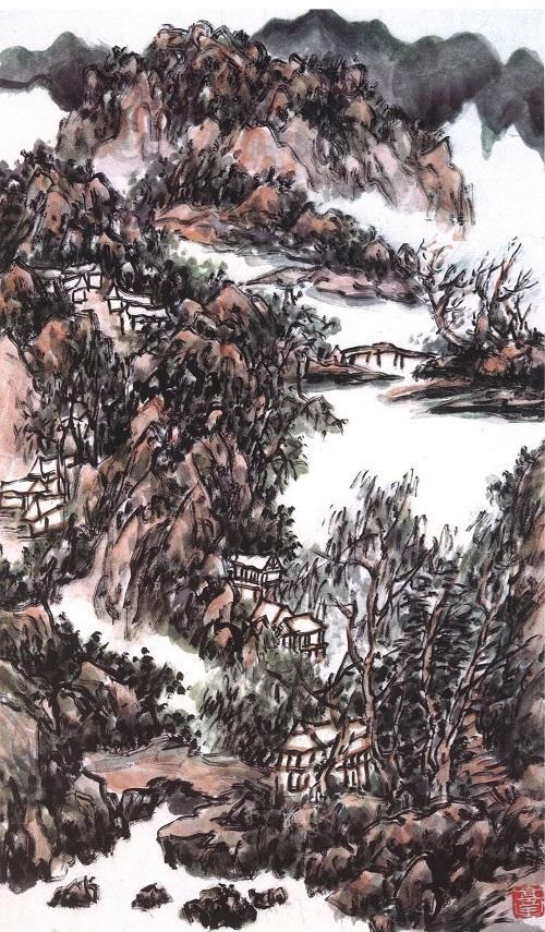H.H.第三世多杰羌佛中國畫作品:古風初脫