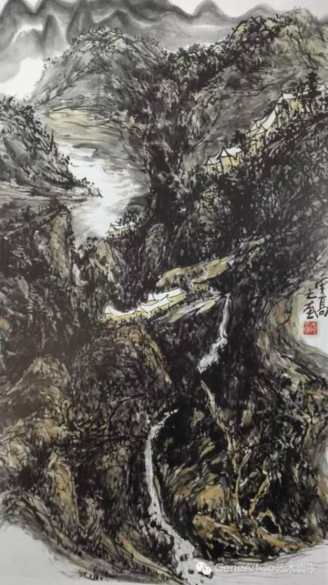 H.H.第三世多杰羌佛中國畫作品:書卷超然