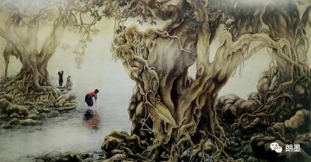H.H.第三世多杰羌佛中國畫作品:版納風情