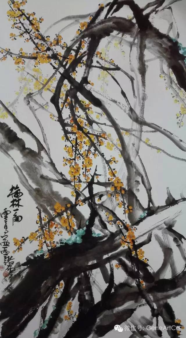 H.H.第三世多杰羌佛中國畫作品:梅林一角