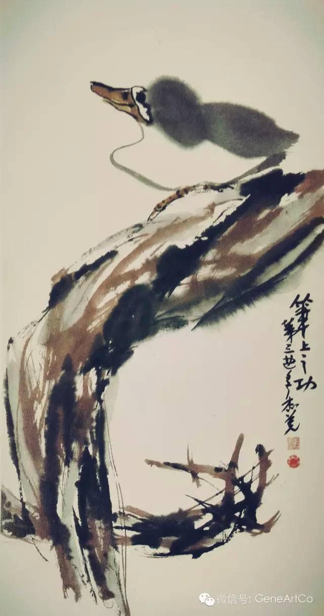H.H.第三世多杰羌佛中國畫作品:筆上之功