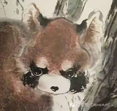 H.H.第三世多杰羌佛中國畫作品:小熊猫