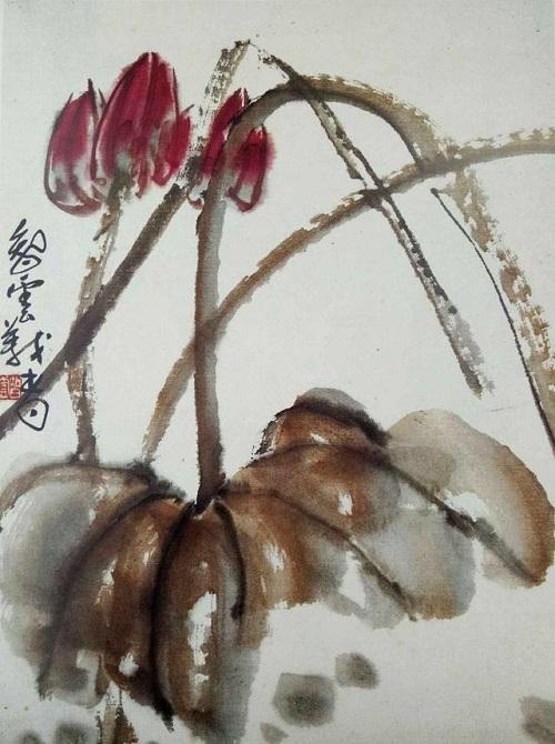 H.H.第三世多杰羌佛中國畫作品:一塵不染
