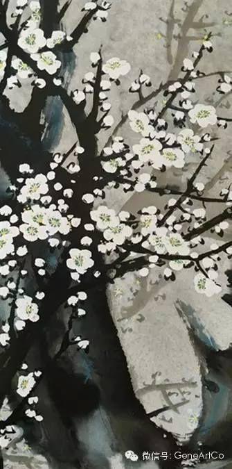 H.H.第三世多杰羌佛中國畫作品:冬粉