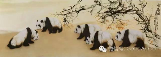 H.H.第三世多杰羌佛中國畫作品:寶獸圖