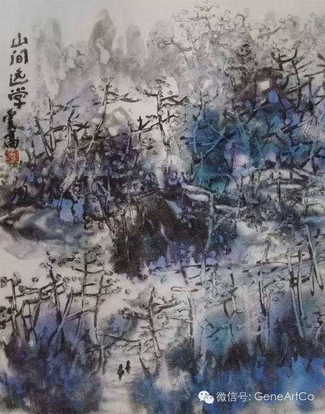 H.H.第三世多杰羌佛中國畫作品:山間遠學