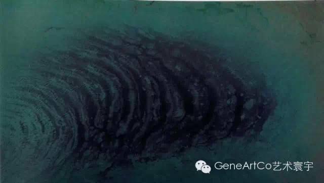 H.H.第三世多杰羌佛西洋畫、超自然抽象色彩作品:地脊骨