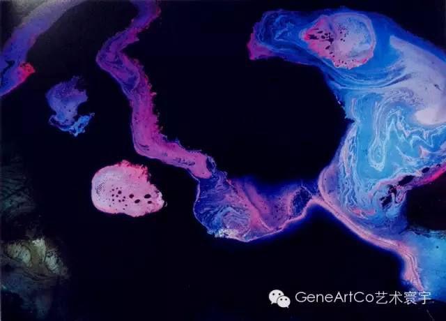 H.H.第三世多杰羌佛西洋畫、超自然抽象色彩作品:靈的威猛