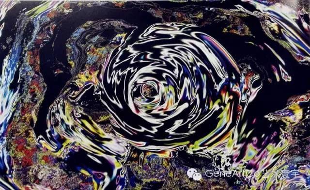 H.H.第三世多杰羌佛西洋畫、超自然抽象色彩作品:幻色