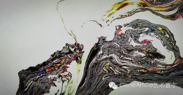 H.H.第三世多杰羌佛西洋畫、超自然抽象色彩作品:美色從這裡開始