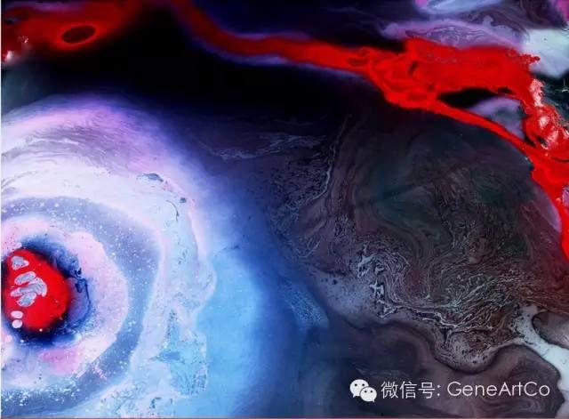 H.H.第三世多杰羌佛西洋畫、超自然抽象色彩作品: 世界奇觀