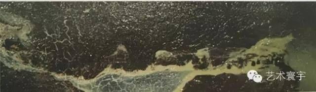 H.H.第三世多杰羌佛西洋畫、超自然抽象色彩作品: 雪山上的茅草石頭屋
