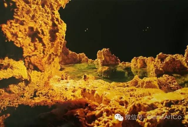 H.H.第三世多杰羌佛韻雕作品:湖光山色之倒影