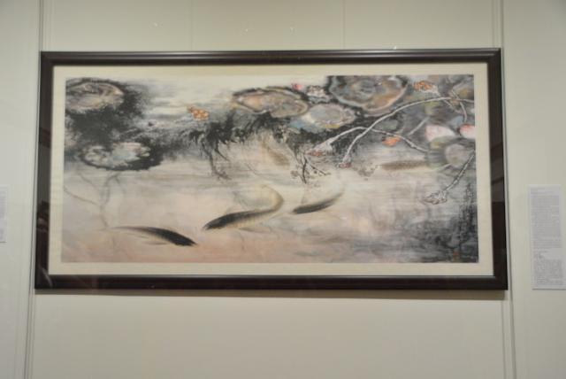 H.H.第三世多杰羌佛的画作「龙鲤闹莲池」将亮相洛杉矶「名画家鱼厅」
