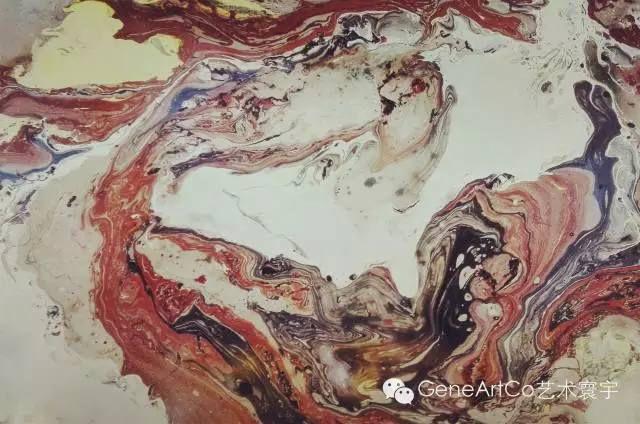 H.H.第三世多杰羌佛西洋畫、超自然抽象色彩作品:美石之雅純