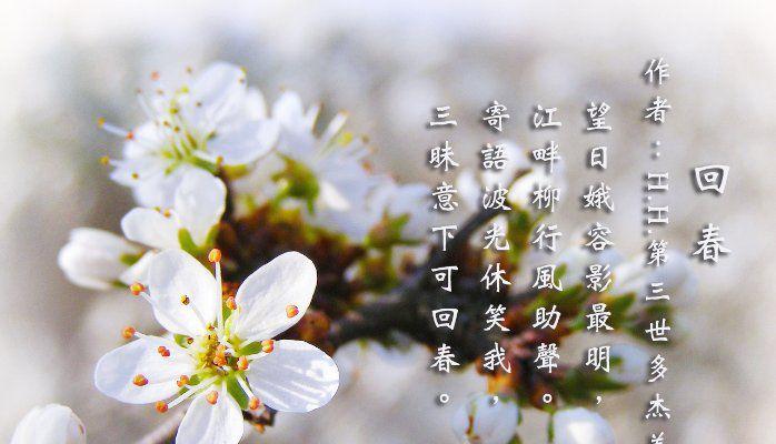 H.H.第三世多杰羌佛詩詞歌賦作品:回春