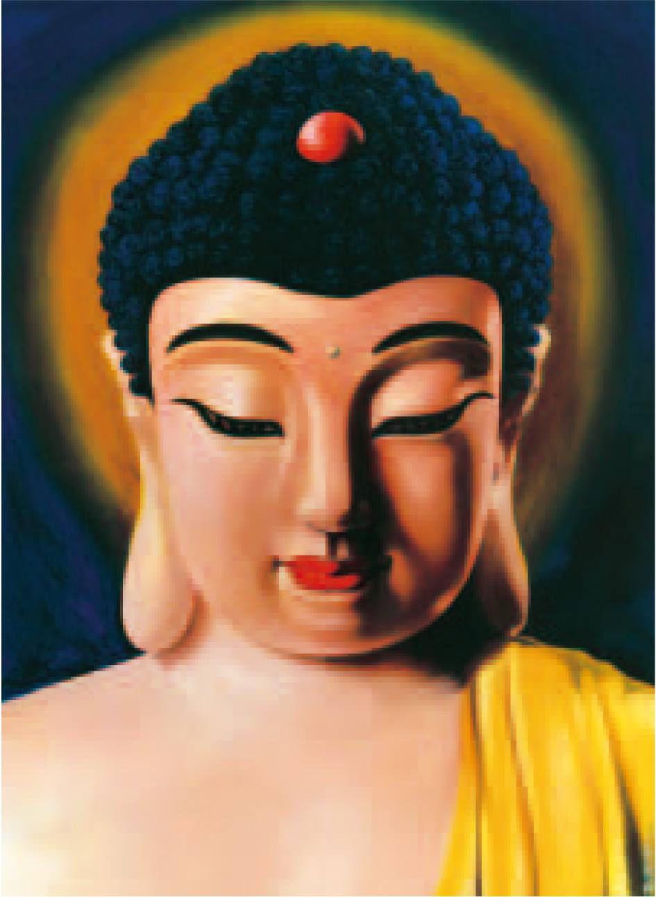 H.H.第三世多杰羌佛西洋畫、超自然抽象色彩作品:南無釋迦牟尼法王子