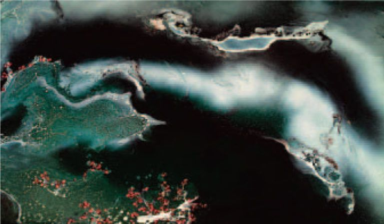 H.H.第三世多杰羌佛西洋畫、超自然抽象色彩作品:雪山上的茅篷石屋