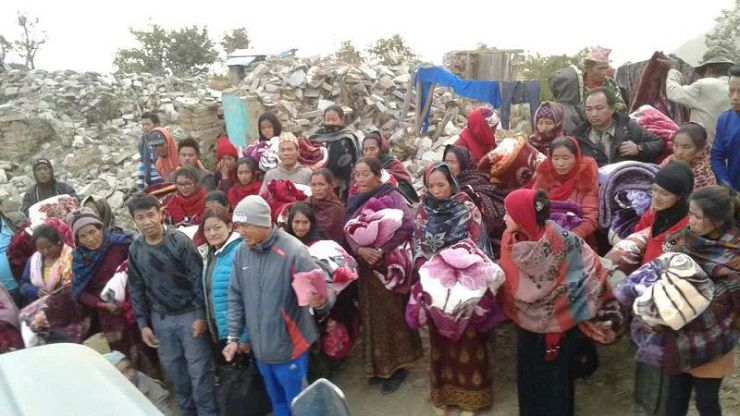 2015年中華西密佛教正心會撥款援助尼泊爾大地震