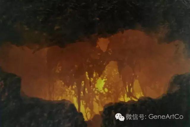 H.H.第三世多杰羌佛韻雕作品:觀神秘的岩石穴口