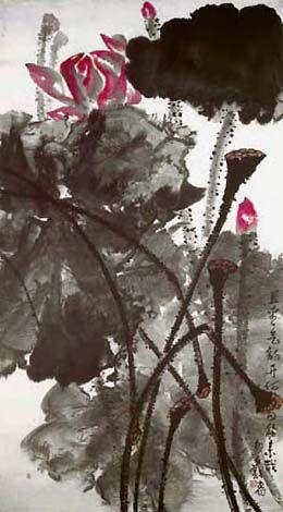 H.H.第三世多杰羌佛中國畫作品:且看氣韻開
