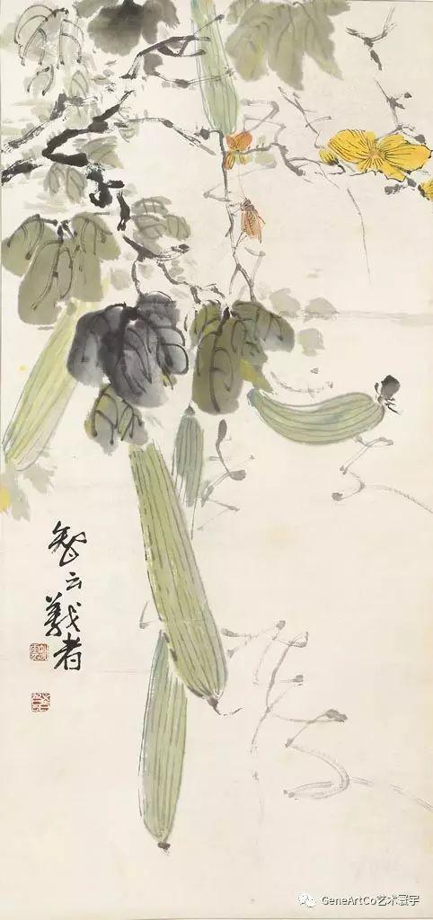 H.H.第三世多杰羌佛中國畫作品:果蔬圖
