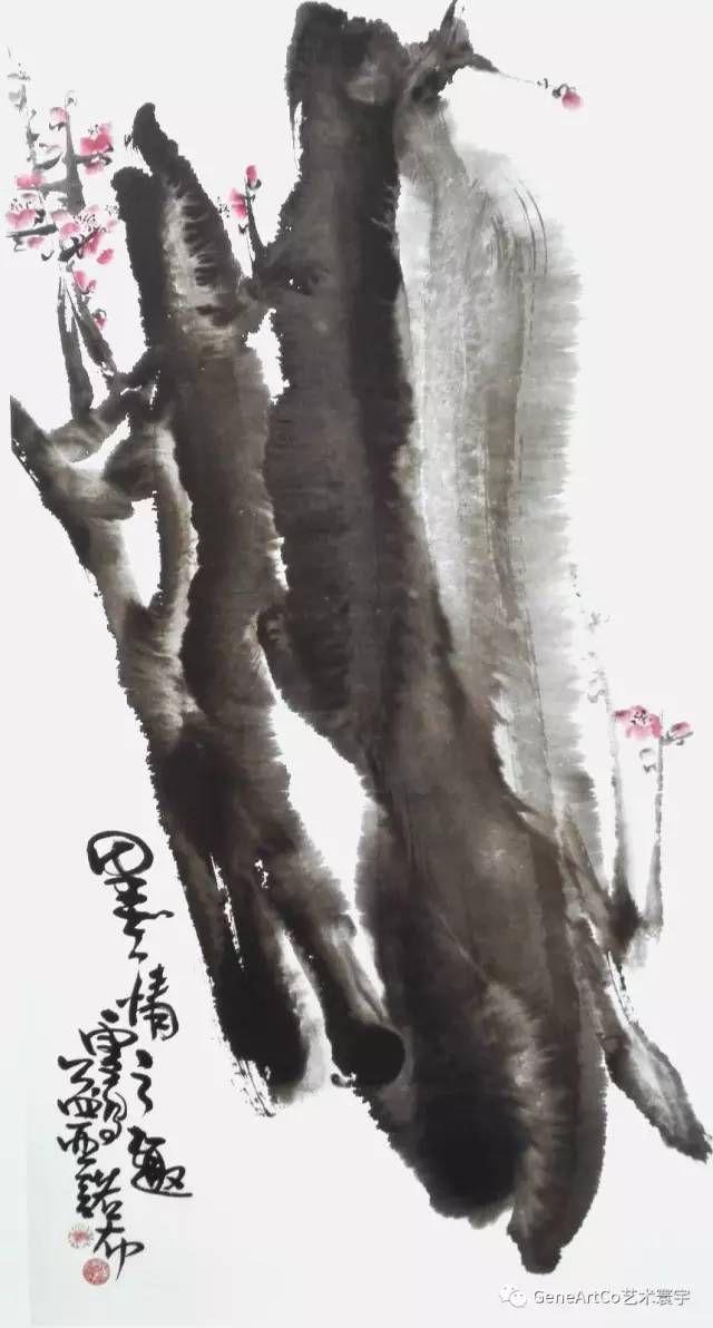 H.H.第三世多杰羌佛中國畫作品:墨情之趣