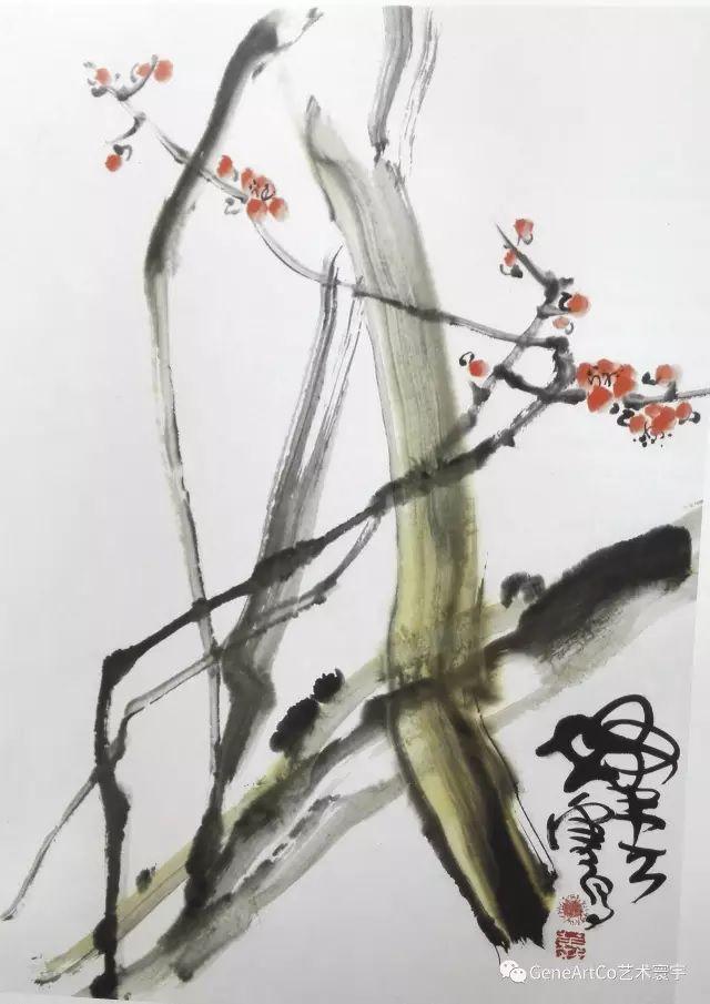 H.H.第三世多杰羌佛中國畫作品:寥寥可報春