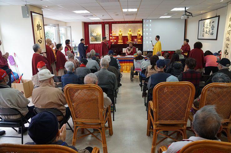 佛教正心會本會指導金剛上師至新北市板橋榮民之家為榮民祈福加持