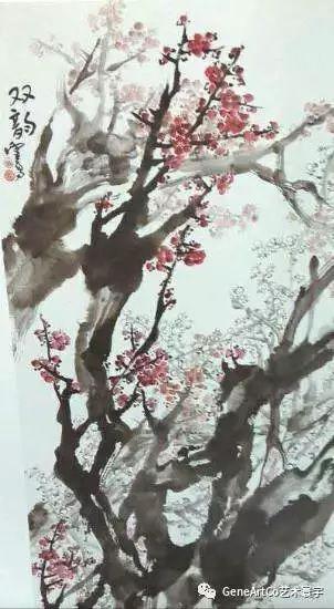 H.H.第三世多杰羌佛中國畫作品:雙韻