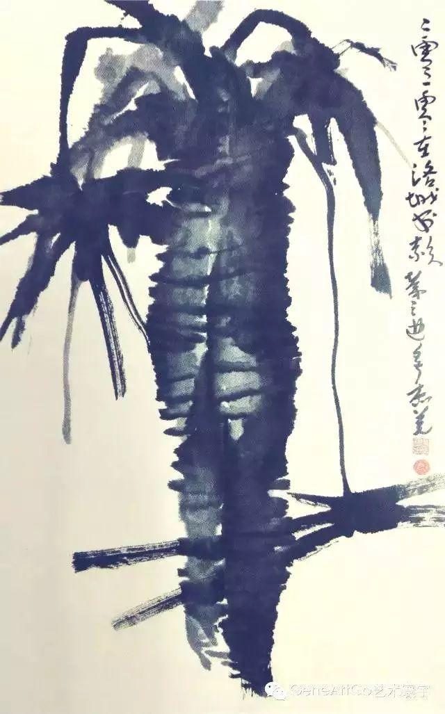 H.H.第三世多杰羌佛中國畫作品:墨棕