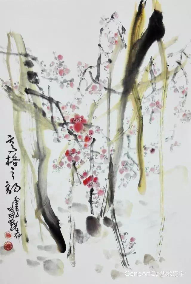H.H.第三世多杰羌佛中國畫作品:高格之韻