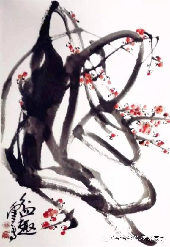 H.H.第三世多杰羌佛中國畫作品:盆趣
