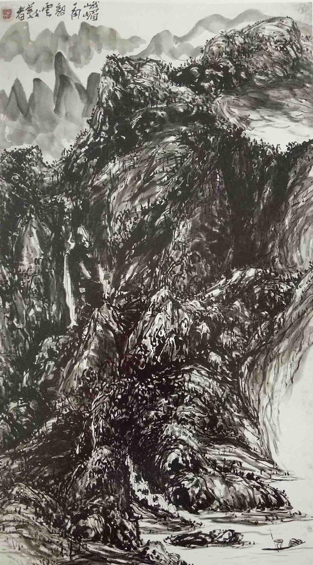 H.H.第三世多杰羌佛中國畫作品:峨眉一角