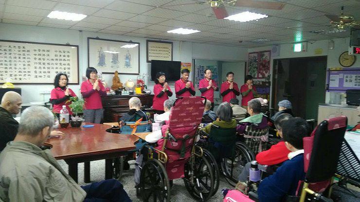 運頓多吉白菩提會2018年1月4日惠群養護中心帶領念佛聞法共修