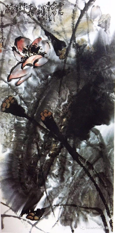 H.H.第三世多杰羌佛中國畫作品:雨後