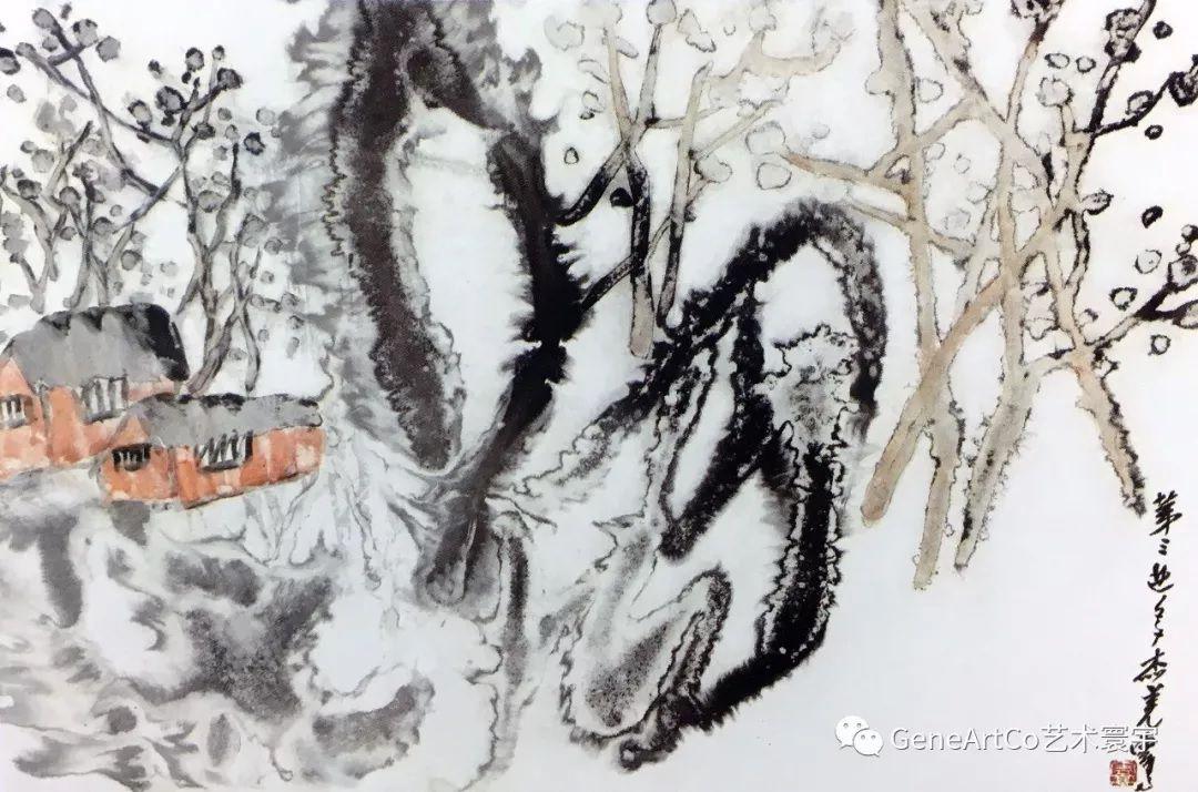 H.H.第三世多杰羌佛中國畫作品:世外桃源