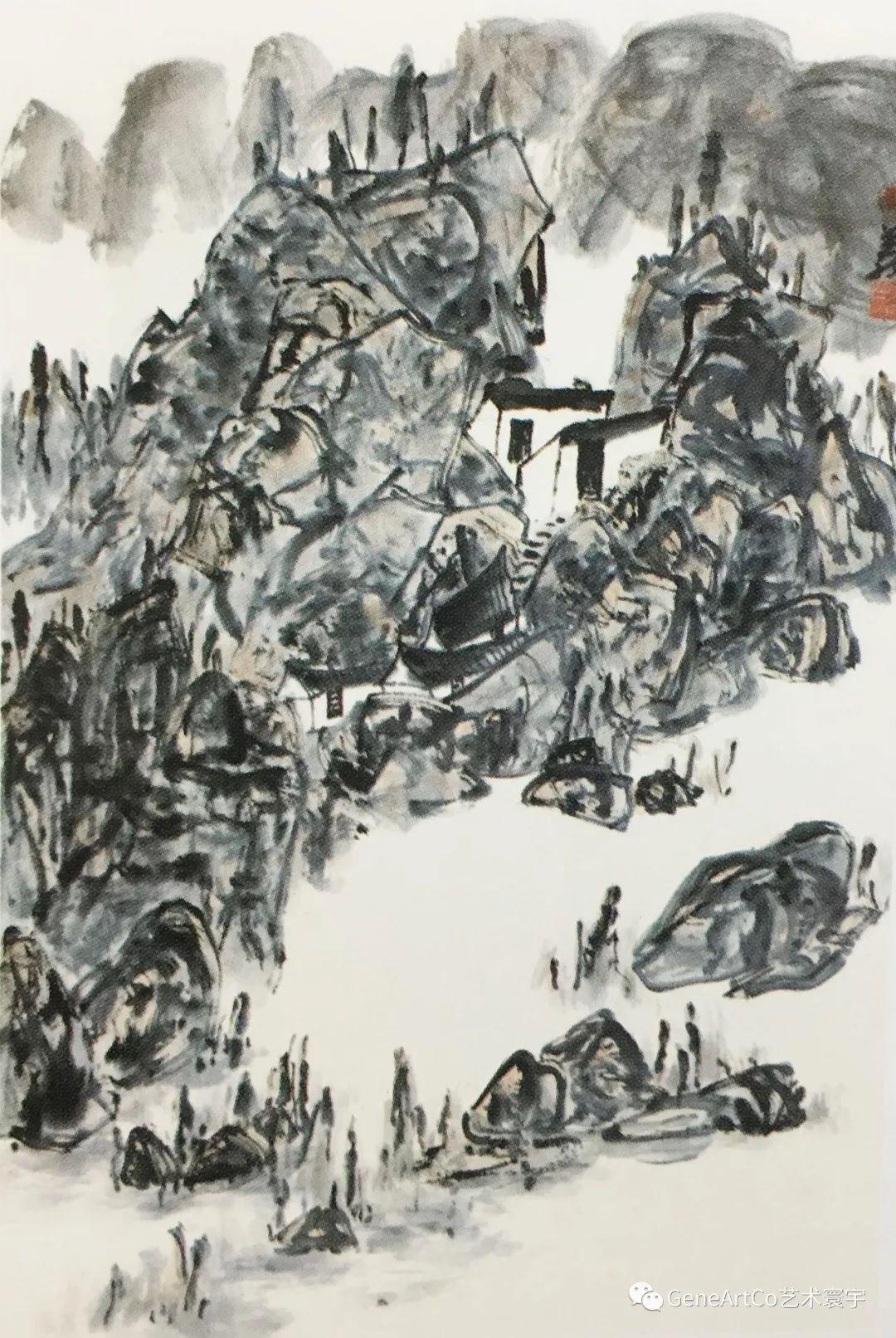 H.H.第三世多杰羌佛中國畫作品:巴山小徑