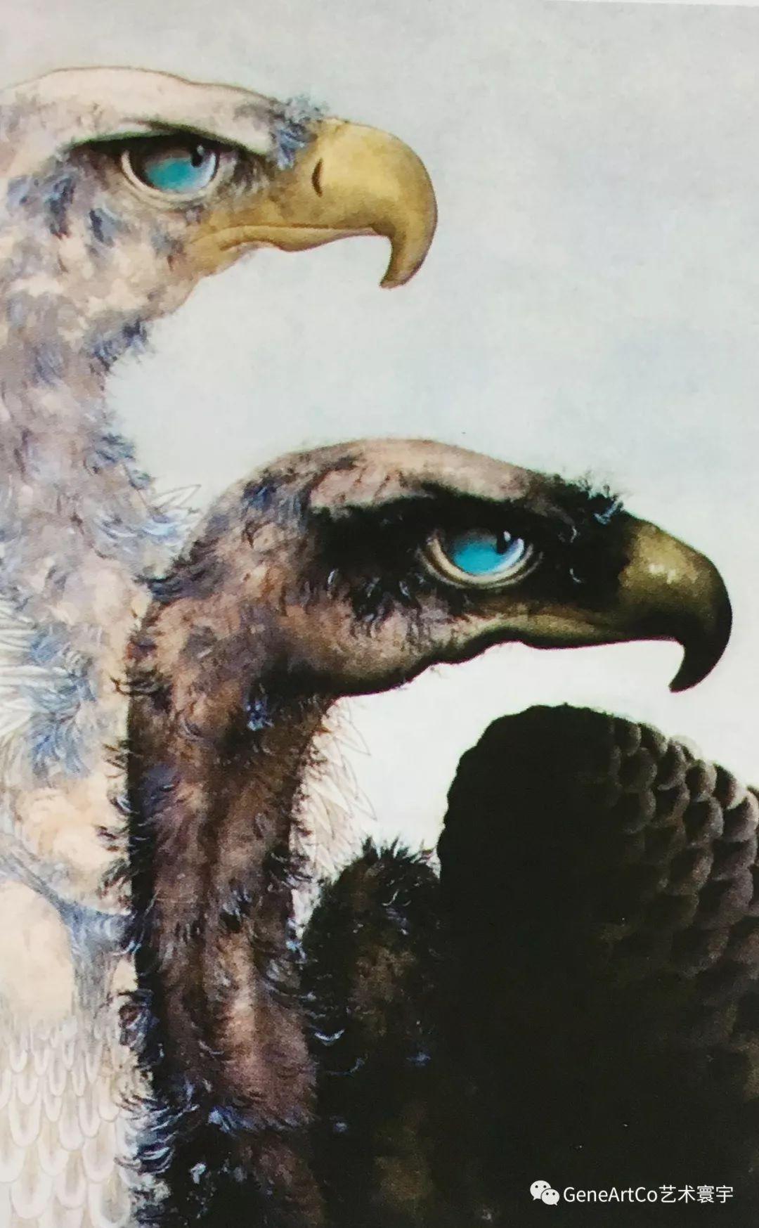 H.H.第三世多杰羌佛中國畫作品:黑白雄姿