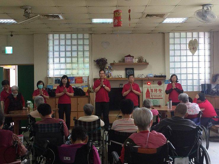 運頓多吉白菩提會2018年4月13、16日老人養護中心唸佛聞法共修