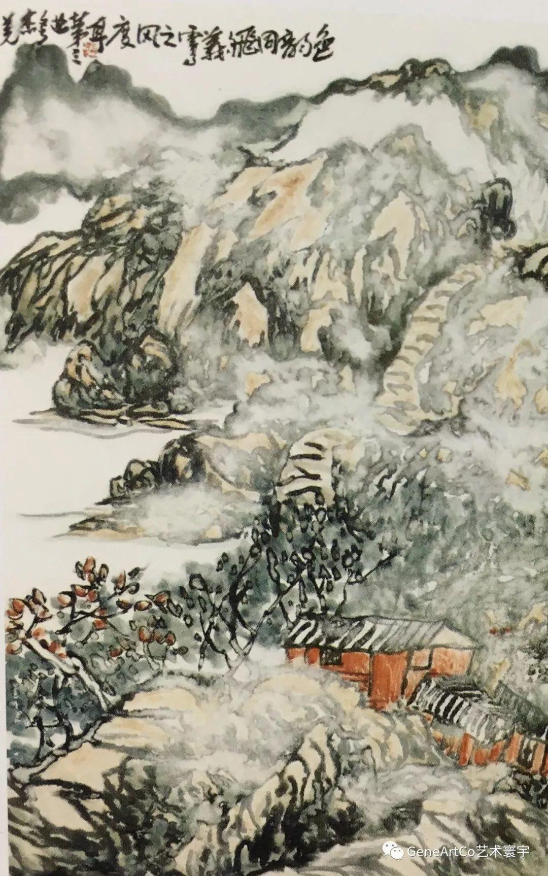 H.H.第三世多杰羌佛中國畫作品:色韻同飛