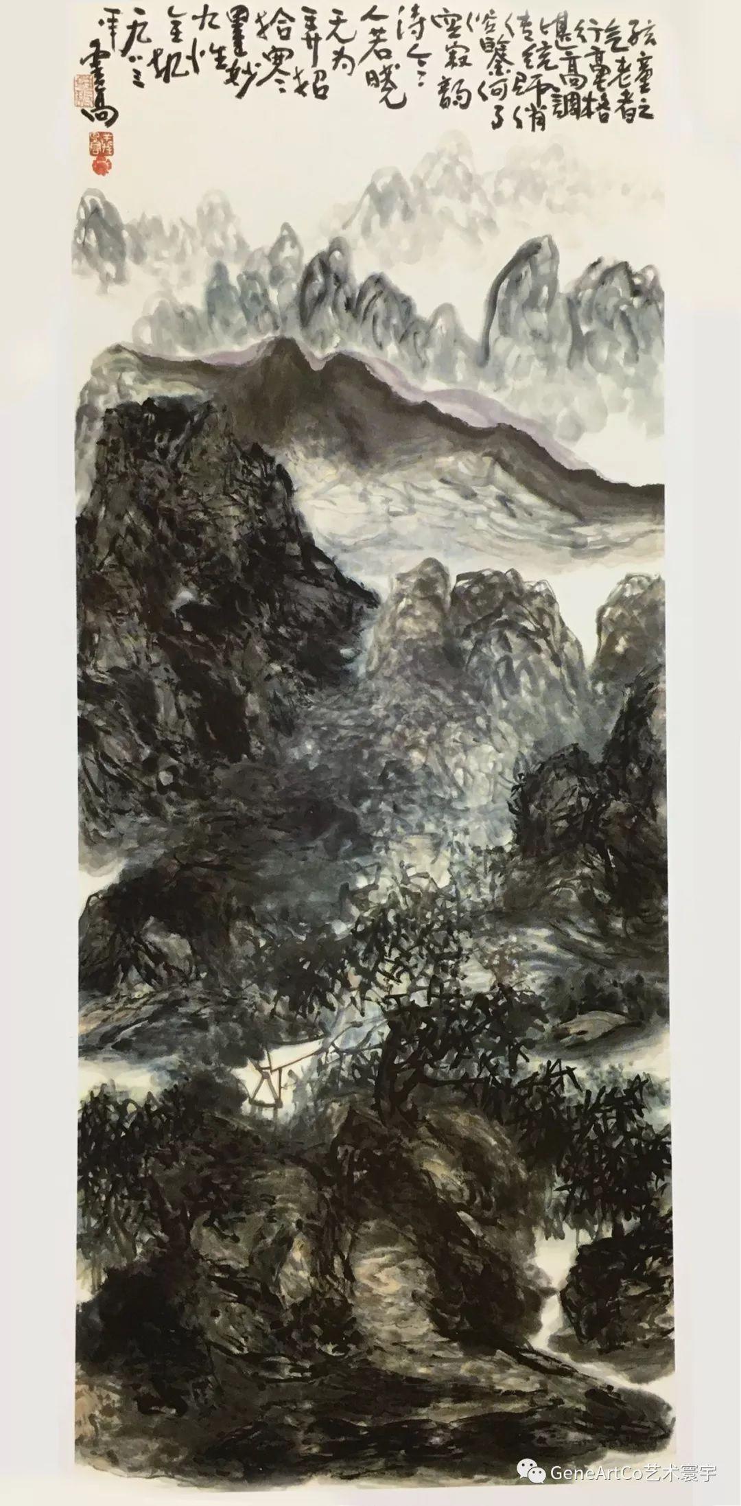 H.H.第三世多杰羌佛中國畫作品:百丈群山