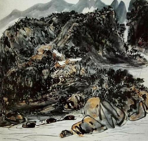 山水畫《毫端卷意》中的景象就是我嚮往的世外桃源(紹文炫)