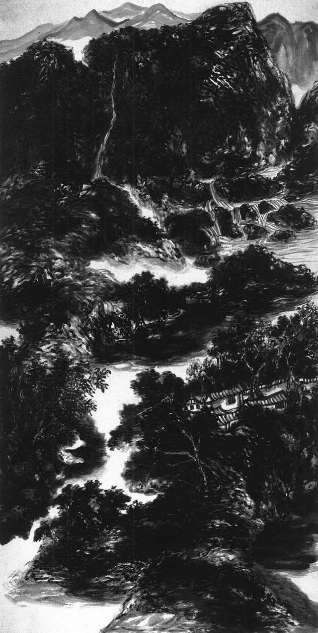山水畫《古柏吟泉》含有天籟之音,充滿在意象的空間(程文軒)