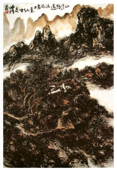 禪意甚深的山重水複,秀出了山水畫《訪賢》(文軒)