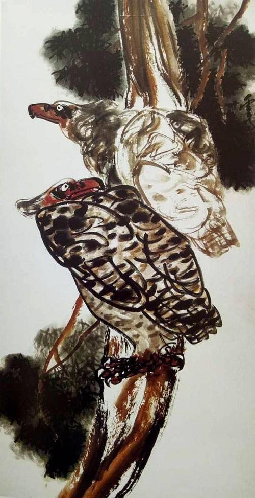 內涵甚深的國畫《雙棲》是眾生世界的真實寫照(史鏡明)