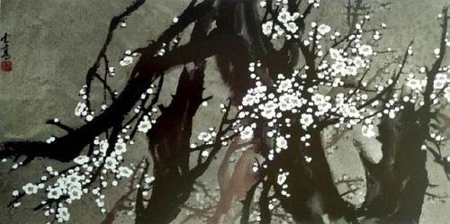 冰清玉潔的萬點梅花——國畫《萬玉圖》(桐蔭客)