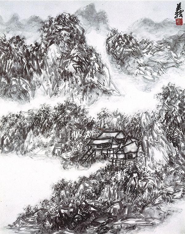 H.H. Dorje Chang Buddha III 的山水畫,每一幅都嘆為觀止(佳林)