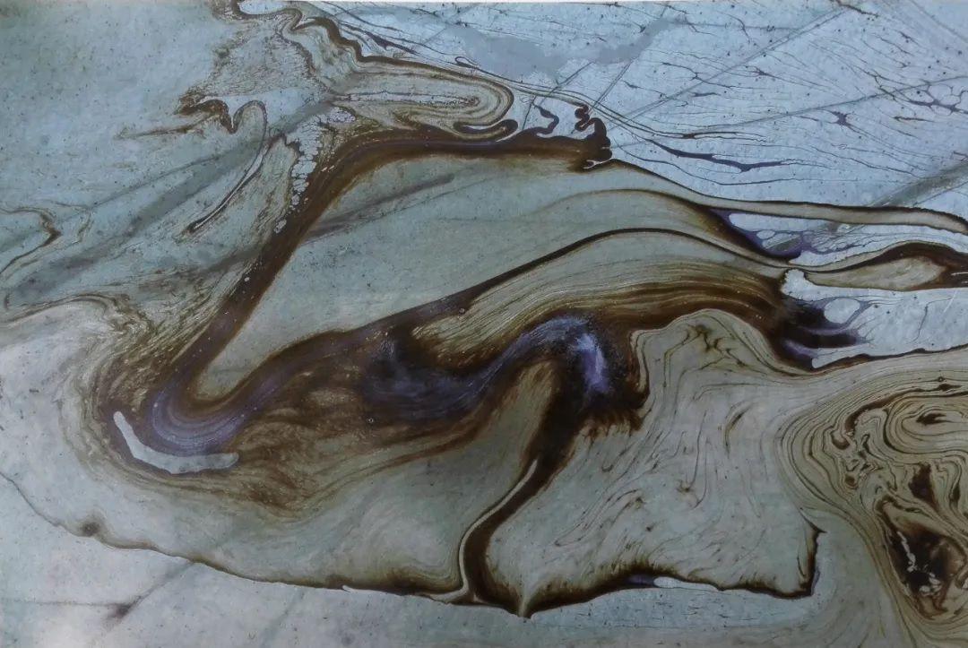 H.H.第三世多杰羌佛西洋畫、超自然抽象色彩作品:秋香彩紗
